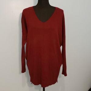Dreamers Burgundy 3/4 Sleeve Sweater XL